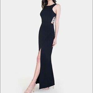 Speechless Side Cutout Rhinestone Formal Dress